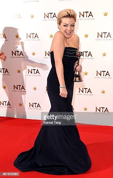Sheridan Smith winner of the Best Drama Performance award poses in the winners room at the National Television Awards at 02 Arena on January 21 2015...