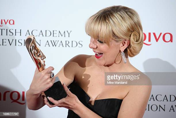 Sheridan Smith with her Best Actress award during the Arqiva British Academy Television Awards 2013 at the Royal Festival Hall on May 12 2013 in...