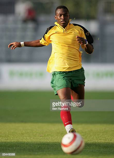 Sherif Coubadja of Togo in action during the International friendly match between Morocco and Togo at the Stade Diochon on August 17 in Rouen France