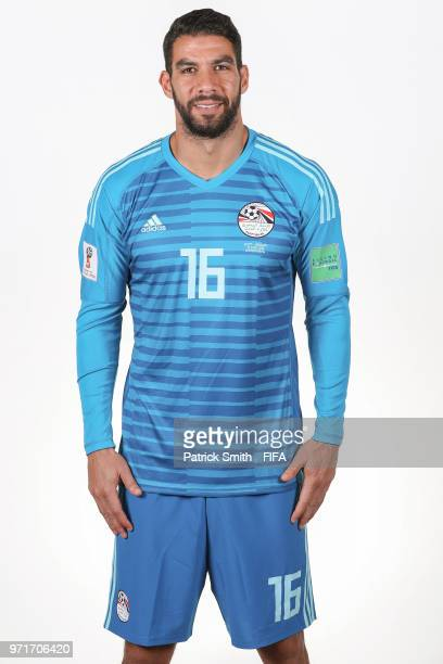 Sherif Ekramy of Egypt poses for a portrait during the official FIFA World Cup 2018 portrait session at The Local Hotel on June 11 2018 in Gronzy...