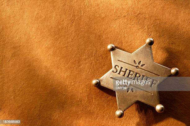 sheriff badge 3 - sheriff stock pictures, royalty-free photos & images