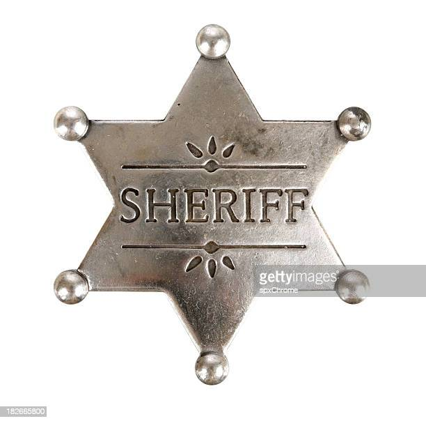 保安官バッジ-絶縁型 - 保安官 ストックフォトと画像