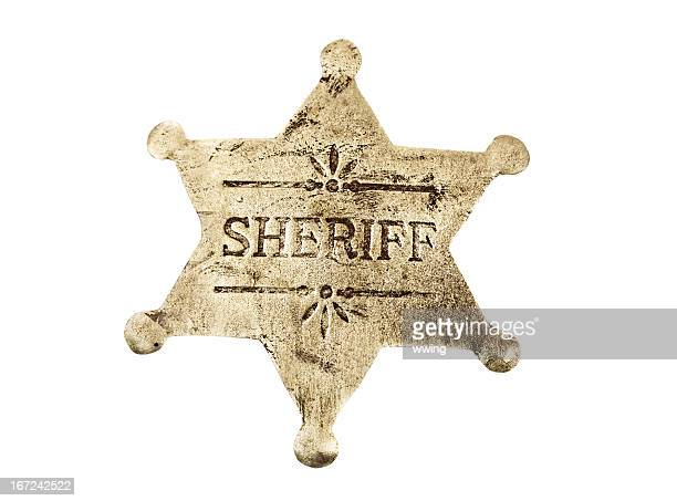 Sheriff Badge with Clipping path