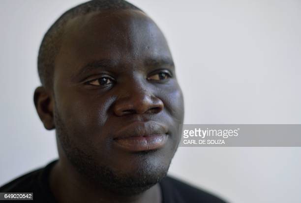 """Sheriff Bojang Jr, the younger cousin of former Gambian information minister Sheriff Bojang, poses in Banjul, Gambia, on January 27, 2017. """"Junior""""..."""