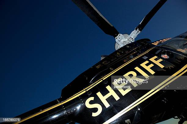 sheriff helicopter for search and rescue - sheriff stock pictures, royalty-free photos & images