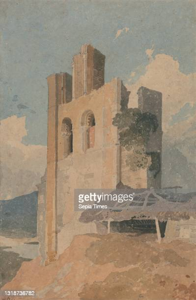 Sheriff Hutton Castle, Yorkshire, John Sell Cotman, 1782–1842, British, ca. 1808, Watercolor and graphite on medium, moderately textured, beige laid...