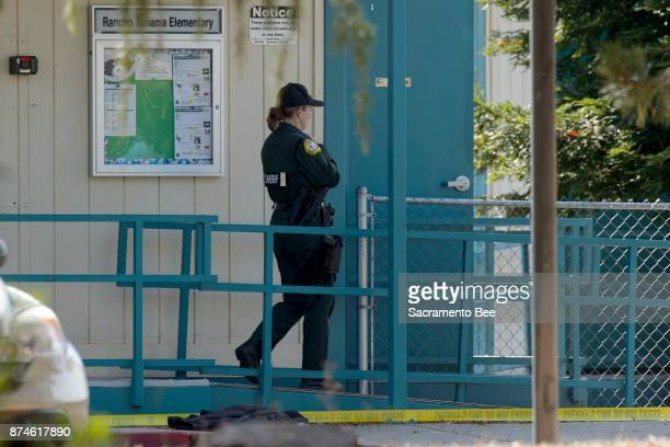 Sheriff investigators work at the Rancho Tehama Elementary School campus in Rancho Tehama Reserve in Corning Calif on Tuesday Nov14 2017
