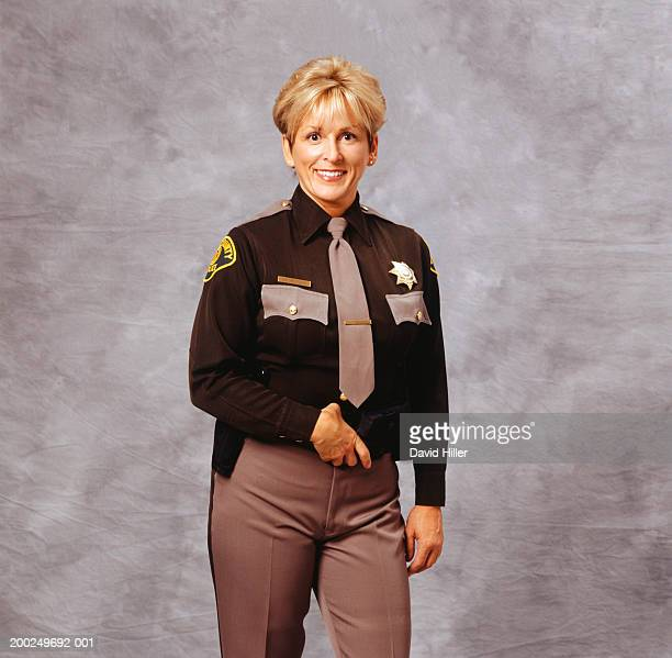 sheriff, (portrait) - 保安官 ストックフォトと画像
