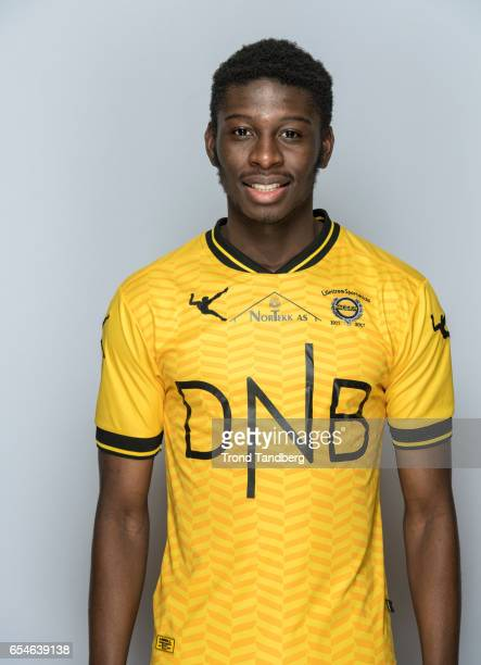 Sheriff Sinyan of Team Lillestrom Sportsklubb LSK during Photocall on March 17 2017 in Lillestrom Norway