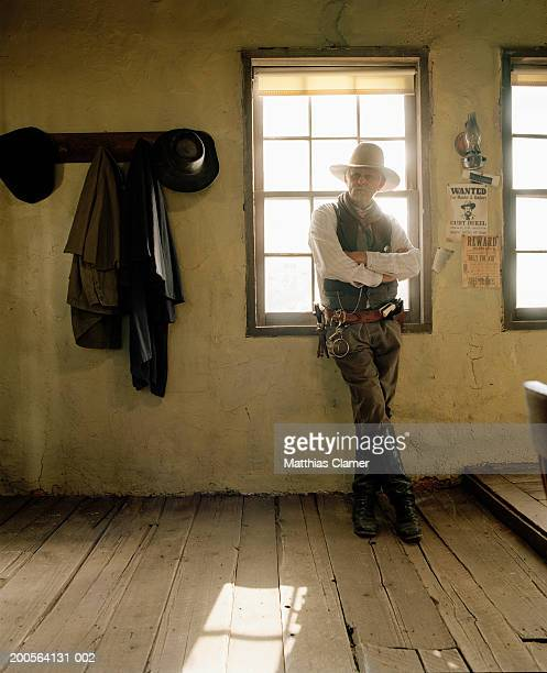 sheriff standing by jail - sheriff stock pictures, royalty-free photos & images