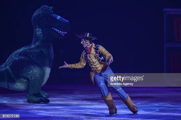 Sheriff Woody character performs during the Disney on Ice show at Tauron Arena Krakow Poland on the November 17 2017 Disney on Ice is a show through...