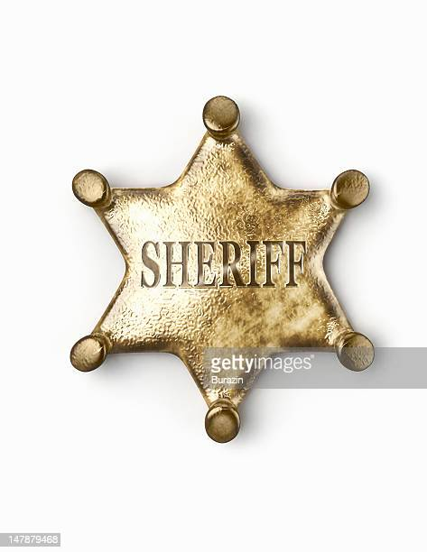 sheriff's badge - sheriff stock pictures, royalty-free photos & images