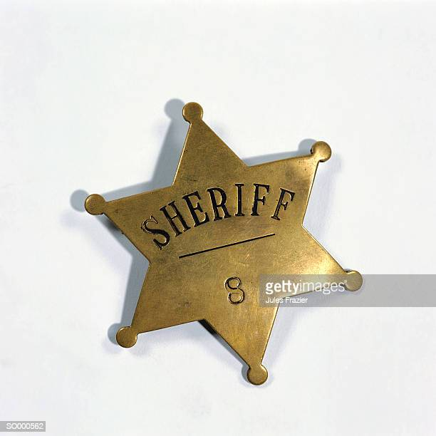 sheriff's badge - distintivo de polícia - fotografias e filmes do acervo
