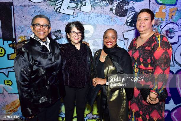 Sheril Antonio Lorie Novak Deb Willis and Kaiko Hayes attend NYU Tisch School of the Arts GALA 2018 at Capitale on April 16 2018 in New York City