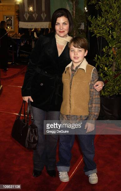 Sherilyn Fenn son Myles during 'Harry Potter and the Chamber of Secrets' Premiere Los Angeles Arrivals at Mann Village Theatre in Westwood California...