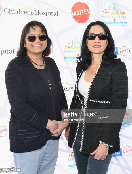 Sherin U Devaskar MD and Johnese Spisso MPA attend the UCLA Mattel Children's Hospital's 19th Annual Party on the Pier at Santa Monica Pier on...