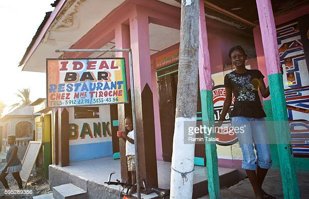Sherline PetitHomme works at the Ideal Restaurant in the city of Gros Morne Haiti on May 10 2010 Artibonite Department in northern region of Haiti is...
