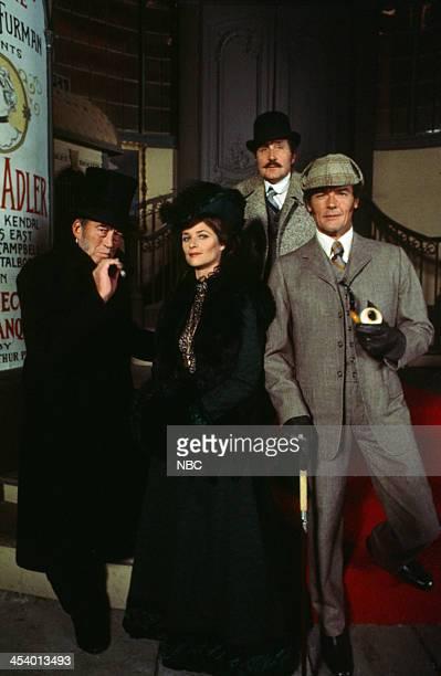 MOVIES Sherlock Holmes in New York Pictured John Huston as Professor Moriarty Charlotte Rampling as Irene Adler Patrick Macnee as Doctor Watson Roger...