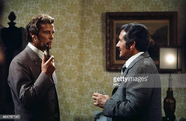 MOVIES 'Sherlock Holmes in New York' Pictured Roger Moore as Sherlock Holmes Patrick Macnee as Doctor Watson