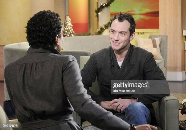"Sherlock Holmes'"" Jude Law talks about his new film on GOOD MORNING AMERICA 12/18/09, airing on the Walt Disney Television via Getty Images..."
