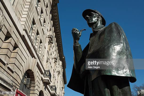 Sherlock Holmes statue at Baker Street London UK