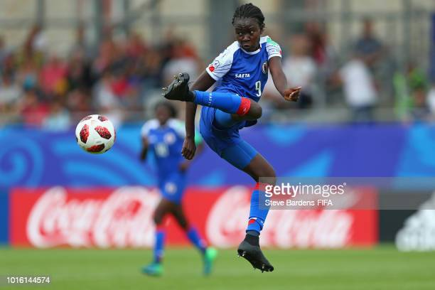 Sherly Juedy of Haiti in action during the FIFA U20 Women's World Cup France 2018 group D match between Germany and Haiti at Stade de la Rabine on...