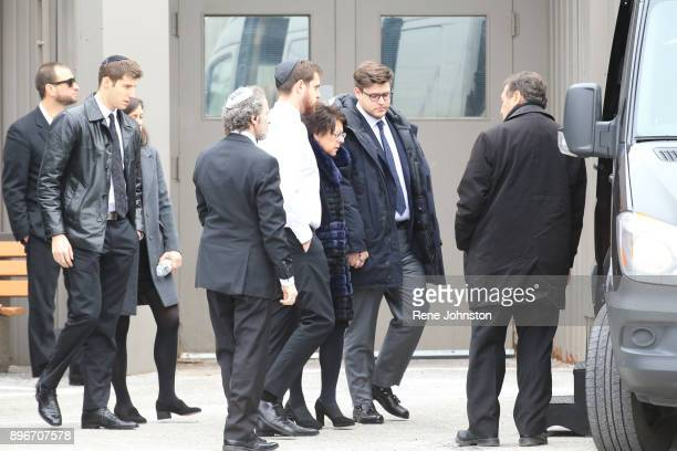 TORONTO ON DECEMBER 21 Sherman Funeral Family and VIP leave after paying their respects to Honey and Barry Sherman at International Center in...