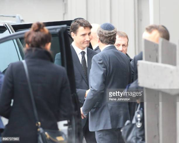 TORONTO ON DECEMBER 21 Sherman Funeral Prime Minister Trudeau shakes Toronto Mayor Tory's hand as they prepare to leave after paying their respects...