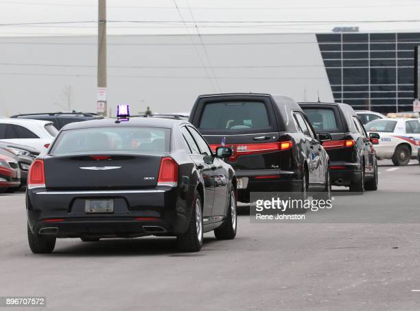 TORONTO ON DECEMBER 21 Sherman Funeral The hearses of Honey and Barry Sherman leave the memorial at International Center in TorontoDecember 21 2017...
