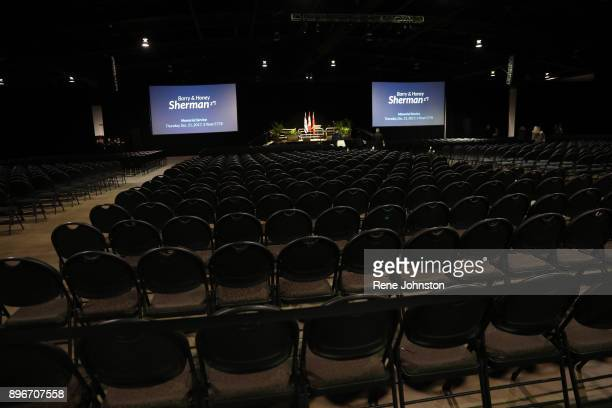 TORONTO ON DECEMBER 21 Sherman Funeral Thousands of chairs set up for the public to pay their respects to Honey and Barry Sherman at International...