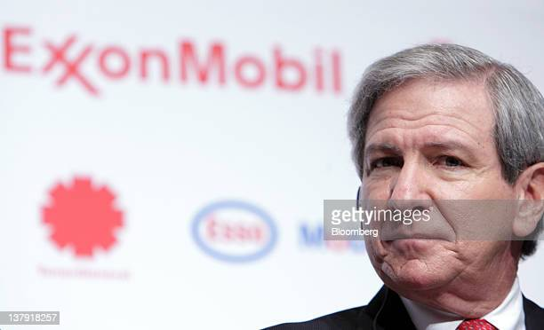 Sherman Glass vice president of Exxon Mobil Corp attends a news conference in Tokyo Japan on Monday Jan 30 2012 TonenGeneral Sekiyu KK agreed to buy...