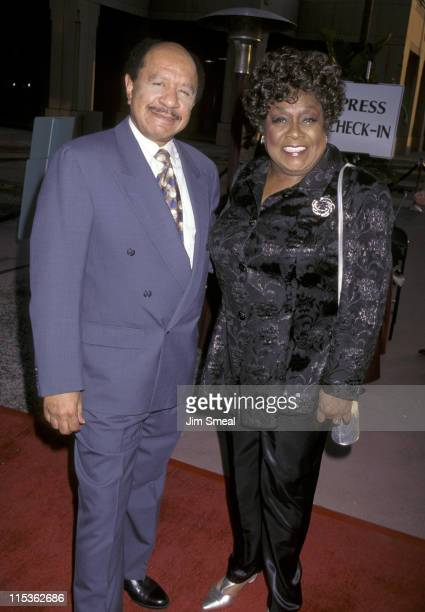 Sherman Hemsley and Isabel Sanford during Screening of 50 Years of Television at Academy Theater in Hollywood California United States