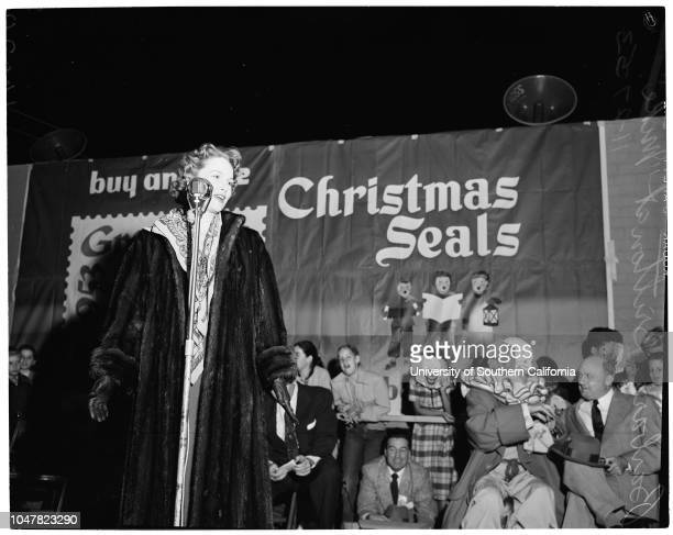 Sherman Oaks Candy Cane Lane pageant 27 November 1953 Barbara Britton Supplementary material reads 'Los Angeles Examiner Los Angeles County...
