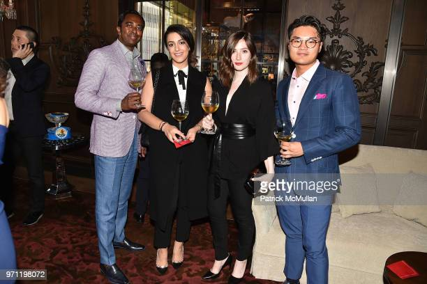 Sherman Peters Giselle Kavandi Jane Rock and Alex Zhuang attend Christopher R King Debuts New Luxury Brand CCCXXXIII at Baccarat Hotel on June 5 2018...