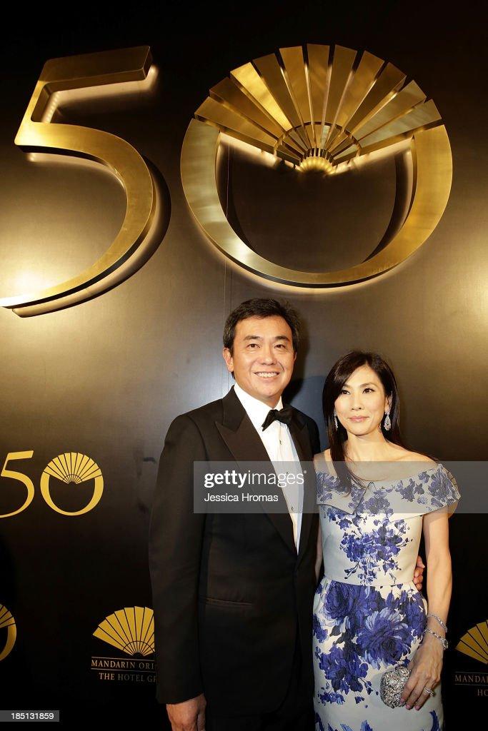 Sherman Tang and Mong Ho attend Mandarin Oriental Hong Kong's 50th Anniversary Gala on October 17, 2013 in Hong Kong.