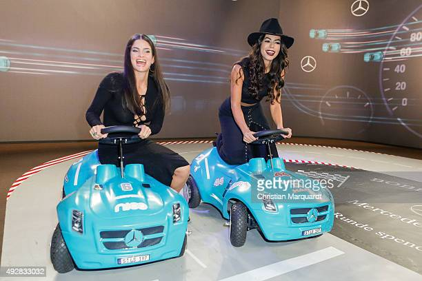 Shermine Shahrivar and Fernanda Brandao attends the Tribute to Bambi 2015 party at Station on October 15 2015 in Berlin Germany