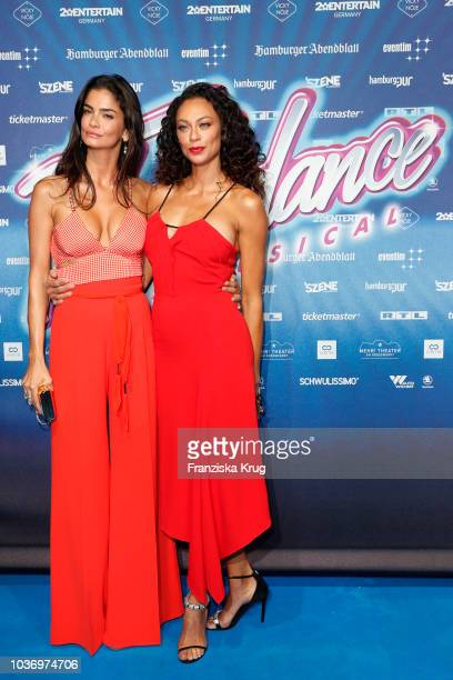 Shermine Shahrivar and Lilly Becker attend the premiere of 'Flashdance Das Musical' at Mehr Theater on September 20 2018 in Hamburg Germany