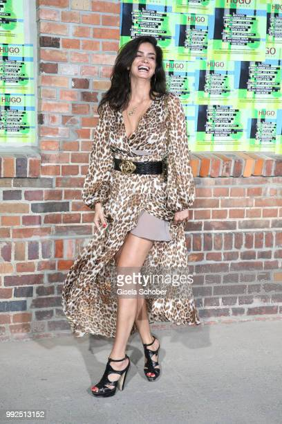 Shermine Shahrivar attend the HUGO show during the Berlin Fashion Week Spring/Summer 2019 at Motorwerk on July 5 2018 in Berlin Germany