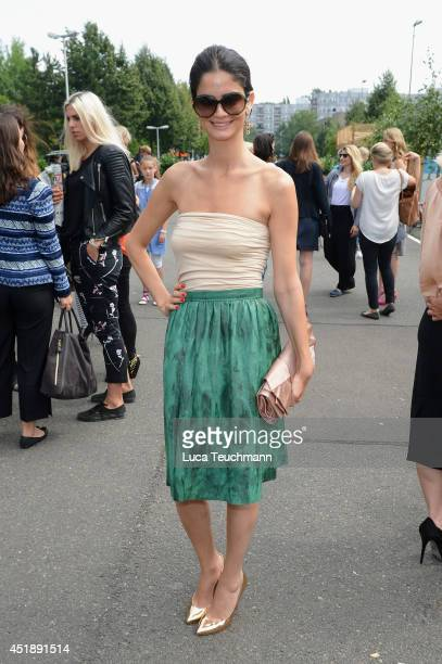 Shermine Shahrivar attends the Glaw show during the MercedesBenz Fashion Week Spring/Summer 2015 at Erika Hess Eisstadion on July 9 2014 in Berlin...