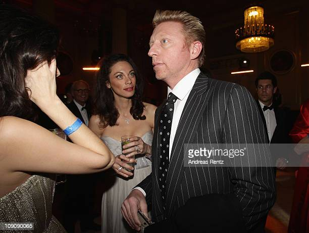 Shermine Shahrivar Lilly Becker and Boris Becker attend the Cinema for Peace Gala at the Konzerthaus Am Gendarmenmarkt during day five of the 61st...