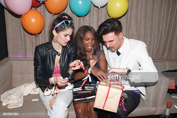 Shermine Sharivar Motsi Mabuse and Andre Borchers attend as Andre Borchers Celebrates His Birthday on February 26 2015 in Hamburg Germany