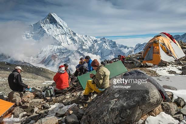 Sherpa-Bergsteiger auf expedition base camp Himalaja-Nepal