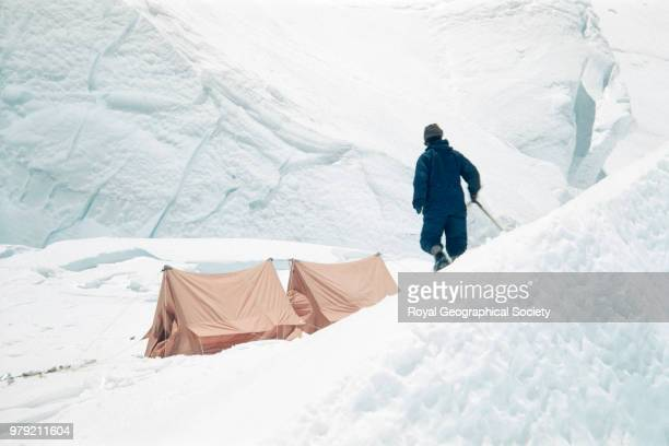 [Sherpa with iceaxe] Nepal March 1953 Mount Everest Expedition 1953