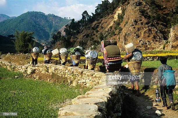 Sherpas in annapurna