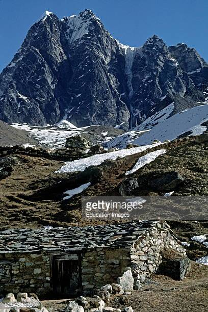 Sherpas Use These Stone Houses For Shelter During The Summer Grazing Season In The Gokyo Valley Khumbu District Nepal