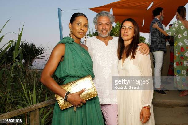 Sherrett Dahlstrom Carlos Mota and Annalisa Bugliani attend the welcome dinner celebrating the opening of Rachel Lee Hovnanian's museum show Open...