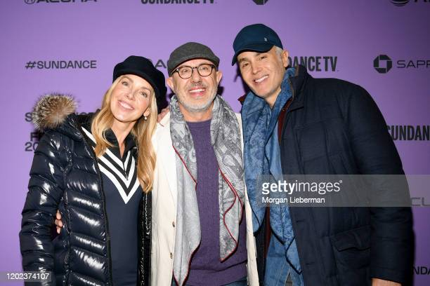 Sherri Crichton Director Laurent Bouzereau and Marcus Keith attend the 2020 Sundance Film Festival Natalie Wood What Remains Behind Premiere at The...