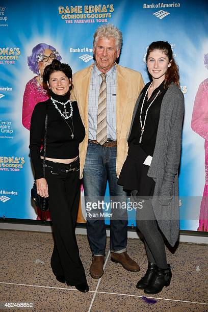 Sherri Jensen actor Barry Bostwick and daughter Chelsea Bostwick arrive for the opening night performance of Dame Edna's Glorious Goodbye The...