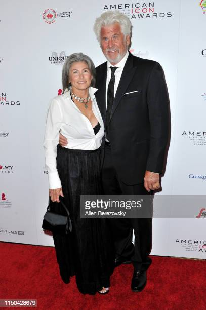 Sherri Jensen Bostwick and Barry Bostwick attend the American Icon Awards at the Beverly Wilshire Four Seasons Hotel on May 19 2019 in Beverly Hills...