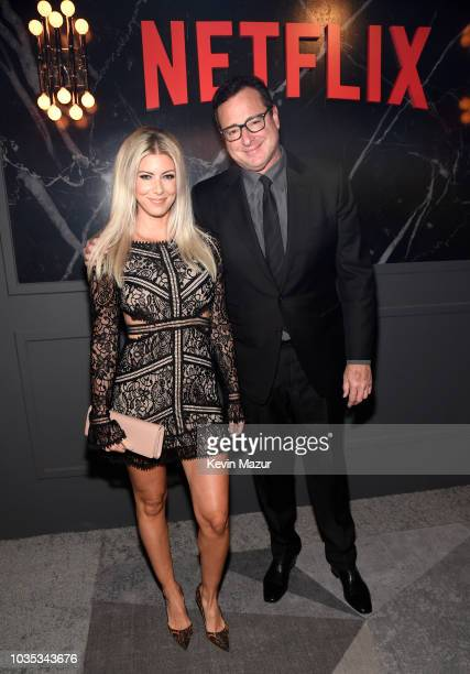Sherri Kramer and Bob Saget attend the 2018 Netflix Primetime Emmys After Party at NeueHouse Hollywood on September 17, 2018 in Los Angeles,...